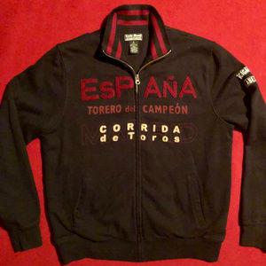 Lucky Brand Espana Spain zip-up track jacket